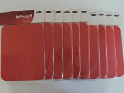 10 NEW Belkin Standard Mouse Pads 7.9'' x 9.8'' Red
