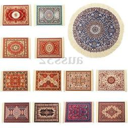 13 Types Round/Square Persian Mini Rug Woven Rug Mouse Pad C