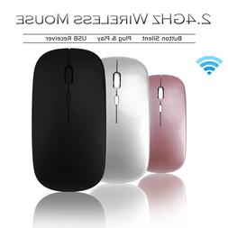 2.4GHz Wireless Mouse Optical Mice Rechargeable Cordless For