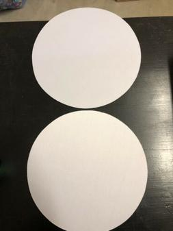2-Round Blank plain WHITE Mousepad. Measures 9 Inches Across