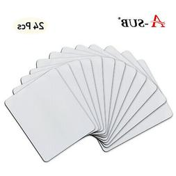 24 Pcs A-SUB Blank Mouse Pad for Dye Sublimation Ink Heat Pr
