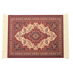 28x18cm Persian Rug Mat Mousepad Retro Style Carpet Pattern
