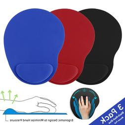 3 Pack Ergonomic Mouse Pad With Wrist Rest Support Mousepad