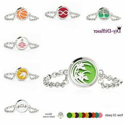 30MM Twist Locket Bracelet Essential Oil Aroma Diffuser O Sh