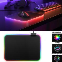 35x25cm Hard Surface RGB Colorful LED Lighting Gaming Mouse