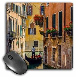 "3D Rose""Gondola On A Canal in Venice Italy."" Matte Finish Mo"