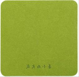 3PCS*green Fabric Mouse Mat Pad High Quality 5mm Thick Non S