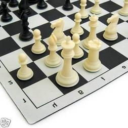 "4"" STAUNTON LUXURY EXTRA LARGE CHESS MOUSEPAD BOARD SET"