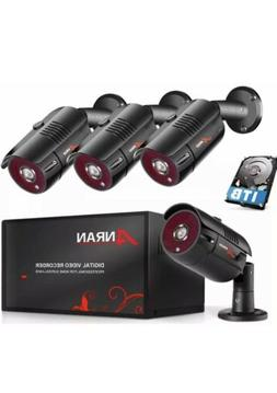 4 Channel 1080P Home Security Camera System 4ch CCTV DVR Rec