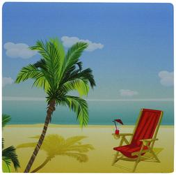 3dRose 8 x 8 x 0.25 Inches Mouse Pad Beach Scene