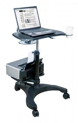 Aidata Ergonomic Sit-Stand Mobile Laptop Cart Work Station w
