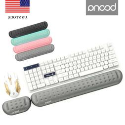 Baona Memory Foam Mouse Pad&Keyboard Wrist Rest Support for