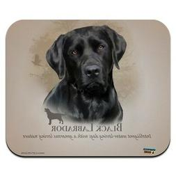 Black Lab Labrador Dog Breed Low Profile Thin Mouse Pad Mous