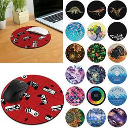 Designer Circle Mouse Pad Non-Slip Rubber for Home Office Ga