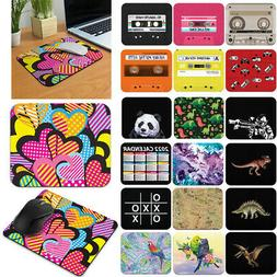 Designer Rectangle Mouse Pad Non-Slip Rubber for Home Office