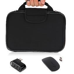 EEEKit Case Bag+Wireless Mouse+USB Hub for 11.6-15.6 inch Ta