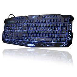 Gaming Keyboard, BlueFinger Mechanical Computer Keyboard USB