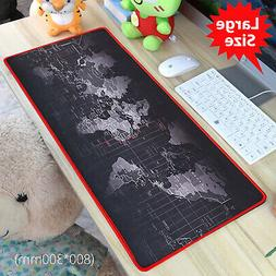 Large XL Size Anti-Slip World Map Speed Game Mouse Pad Gamin