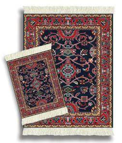 Lextra® , MouseRug® & CoasterRug® Set, navy, red and gold