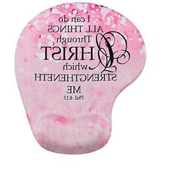 Memory Foam Mousepad with Wrist Support, Custom Bible Verse