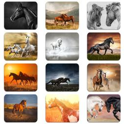 Mouse Pad Animal Running Horse Pattern Soft Rubber Laptop Co