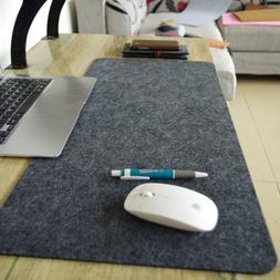 Mouse Pad Desk Mat Woolen Leather Computer Gaming Wrist Warm