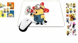 Mousepad Warning Emergency Minions Mouse Pad with 3-D Sticke