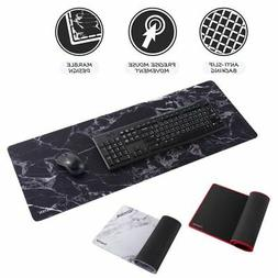 "Non-Slip XXL 31.5"" x 12"" Marble Mouse Pad Keyboard Gamin"