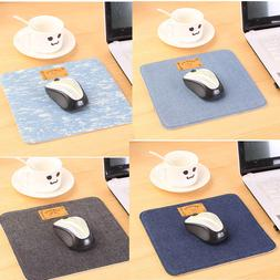 Office Supply Blue Denim Fabric Mouse Pad Cowboy Novelty gif