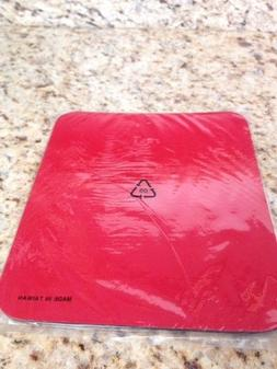 "Plain Simple Good Quality Red Foam Mouse Pad Large 9.75"" x 8"