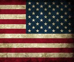 US American Flag Grunge Mouse Pad