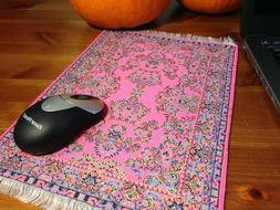Woven mouse pad with Turkish Carpet Design
