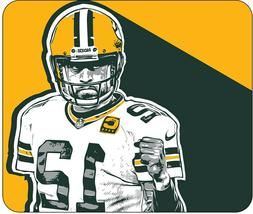 """Aaron Rodgers - Desktop Mouse Pad - 10"""" X 8.5""""  -  Green Bay"""