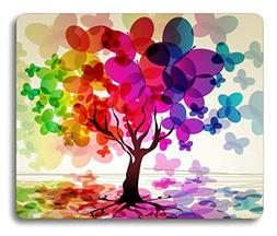 Abstract Art Mouse Pad Large Colorful Spring Season Tree wit