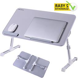 Adjustable Laptop Bed Table Tray , Superjare Portable Standi