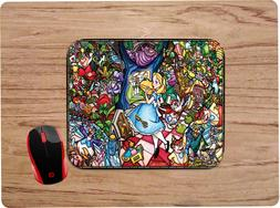 ALICE IN WONDERLAND STAINED GLASS DESIGN MOUSEPAD MOUSE PAD