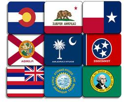 all state flag mouse pad emblem non