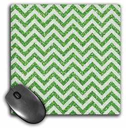 3dRose Anne Marie Baugh - Chevron Stripes - Image of Green G
