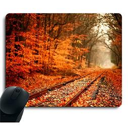 Beautiful Autumn Natural Scene Yellow Tree Mouse Pad