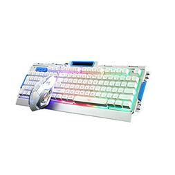 LED Backlit Gaming Keyboard & Mouse Combo Bundle, IREALIST W