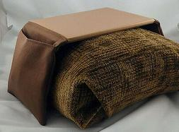Bean Bag Arm Chair Arm Rest Mouse Pad - Small Brown and Tan