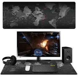 Black Fabric Gaming Mouse Pad High Quality NonSlip Keyboard