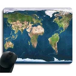 Original Blue Earth World Map Mouse Pad