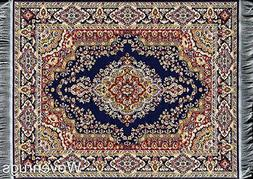 Blue Oriental Woven Rug Mouse Pad - Turkish Style Carpet Mou