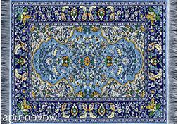 Blue Oriental Woven Rug Mouse Pad - Persian Style Carpet Mou