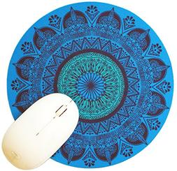 "Michel Bujardet Blue Persia 8"" Round Mousepad by Oriental Tr"