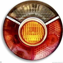 Car Tail Light Round Mouse Pad