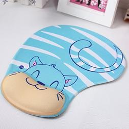 Cartoon Gel Wrist Protected Mouse Pad Ergonomic Memory Foam