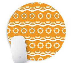 Cartoon Navy Round Mouse Pad Diameter 8 inch Mouse Mat
