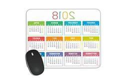 Colorful year 2018 calendar vector template Mouse pad Gaming
